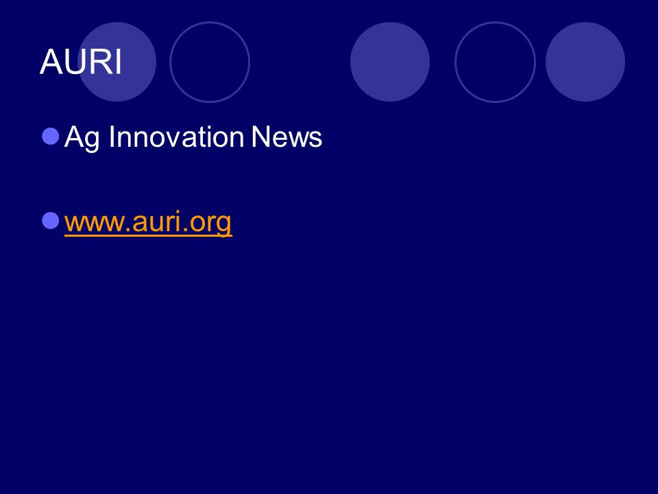 AURI Ag Innovation News www.auri.org