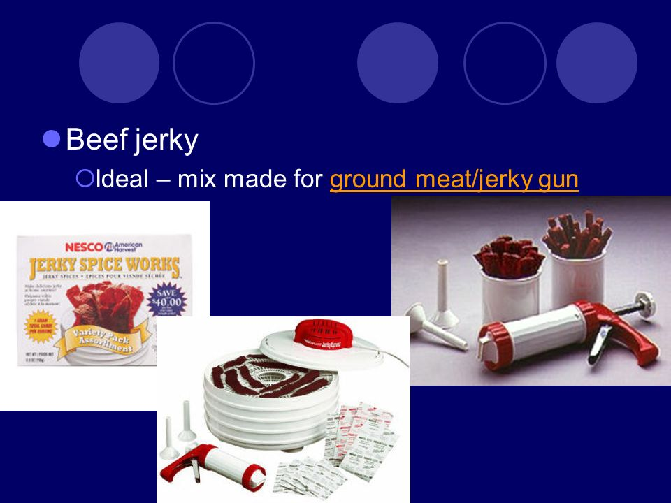 Beef jerky Ideal – mix made for ground meat/jerky gunground meat/jerky gun