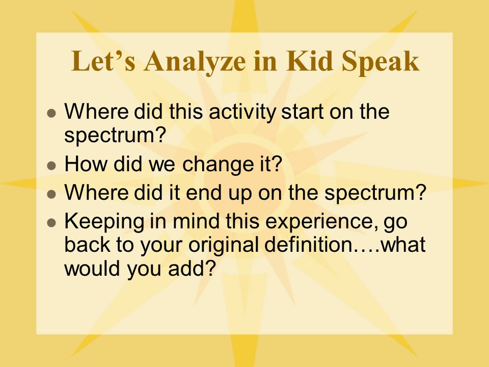 Kid Speak It Remember….Learning science is something students do; not something that is done to them. Learning inquiry is no exception so lets do this