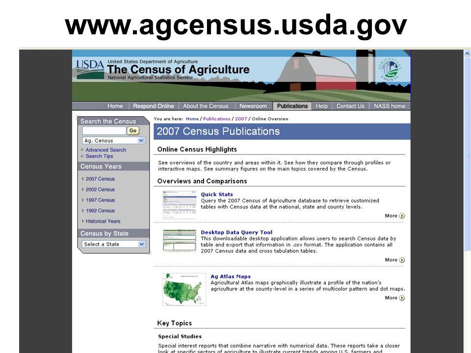 www.agcensus.usda.gov