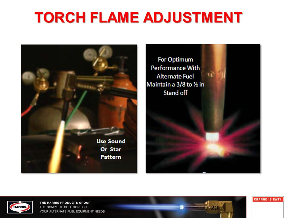 TORCH FLAME ADJUSTMENT 20