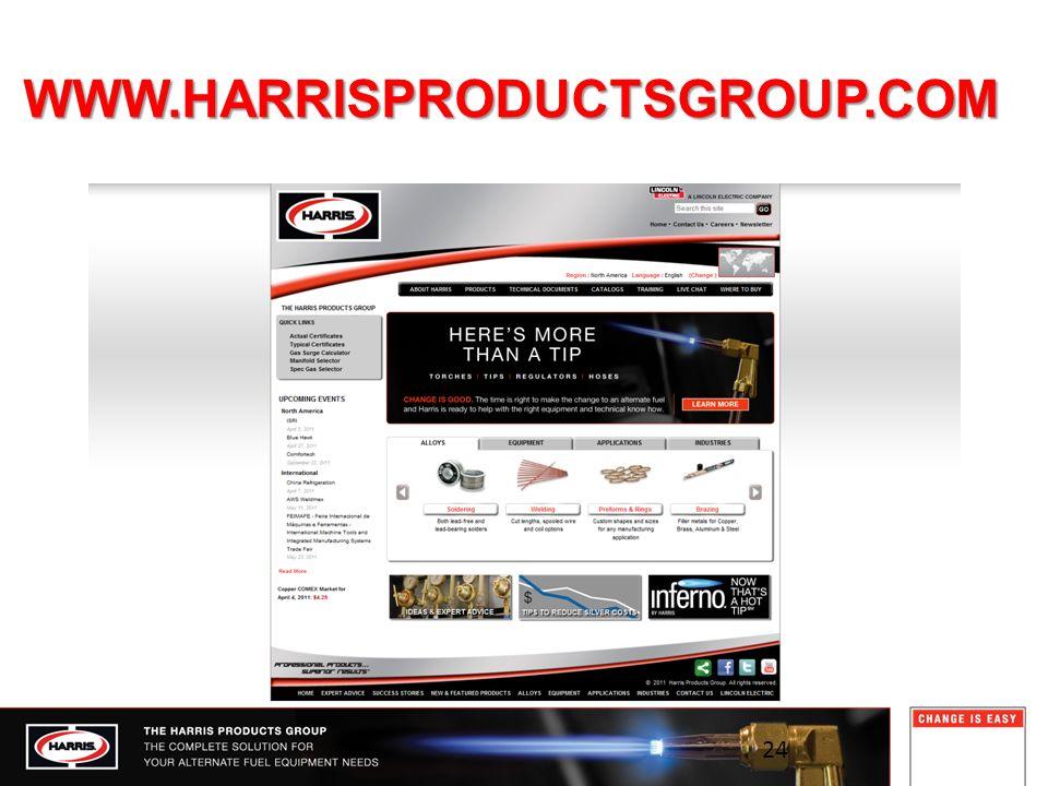 WWW.HARRISPRODUCTSGROUP.COM 24