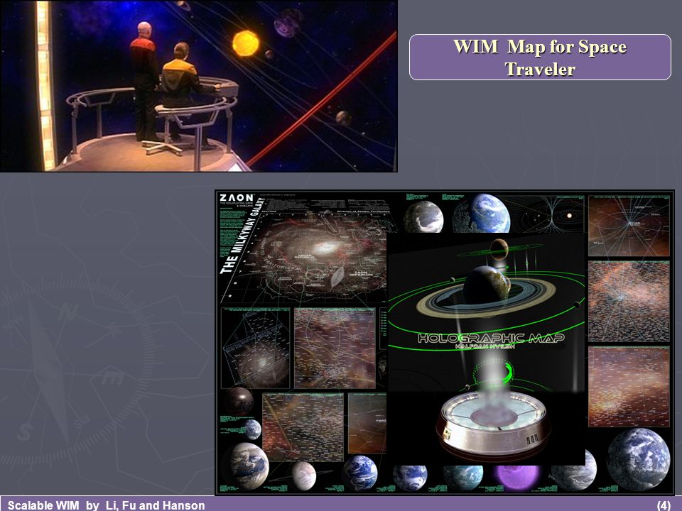 (4) Scalable WIM by Li, Fu and Hanson WIM Map for Space Traveler