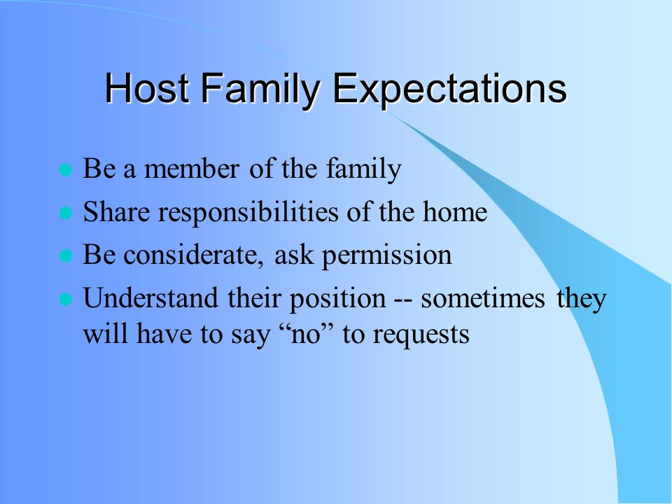 Challenges Adapting to rules of your host family Doing well in school Homesickness / making close friends Speaking English Following the rules of Rotary Getting involved in Rotary club and community