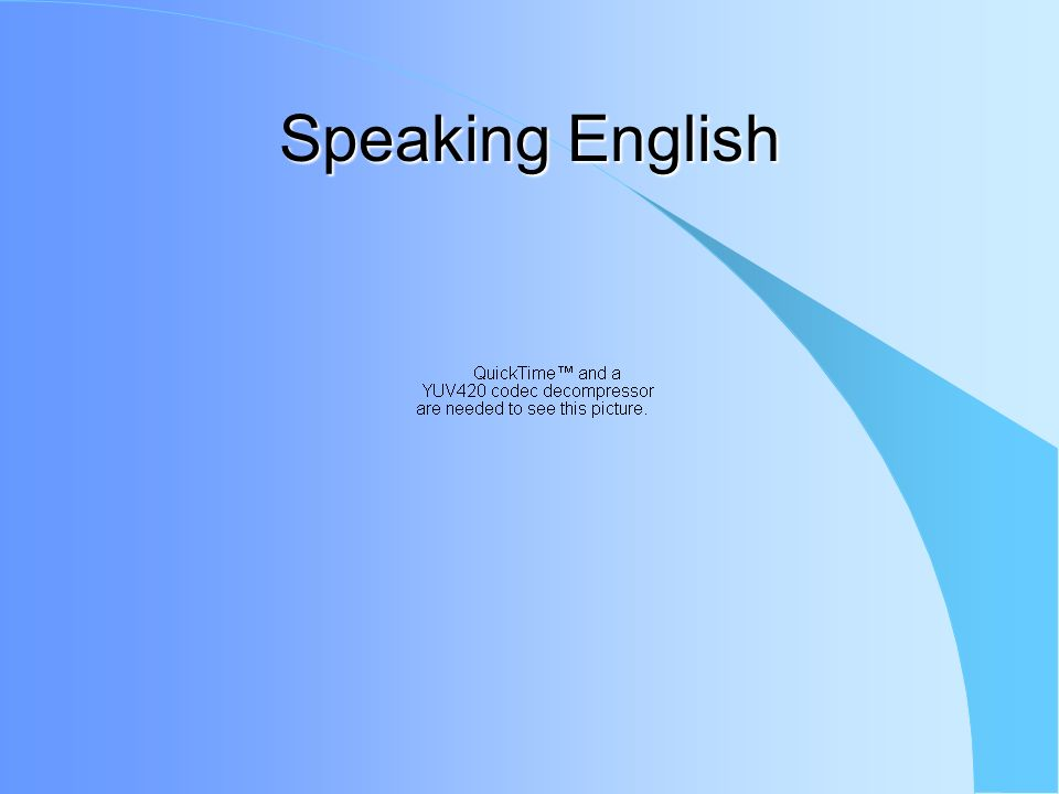 Speaking English Often students speak own language –Considered quite rude –Forces others away from you This is major problem Ask questions when you need help