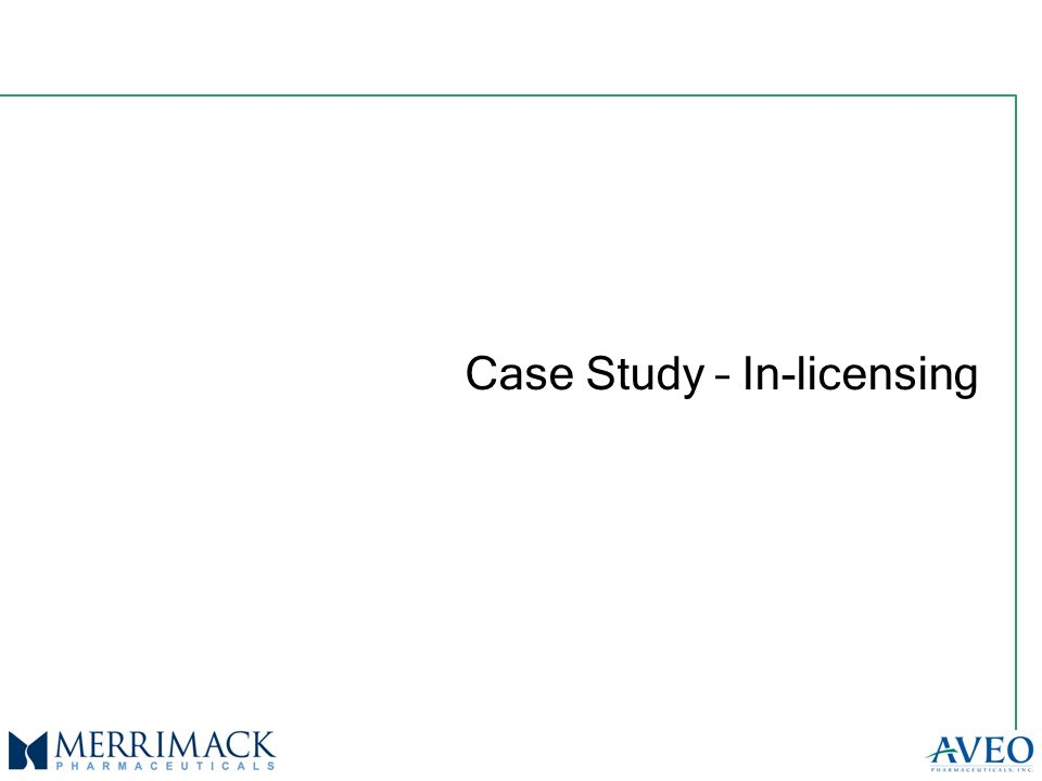Case Study – In-licensing