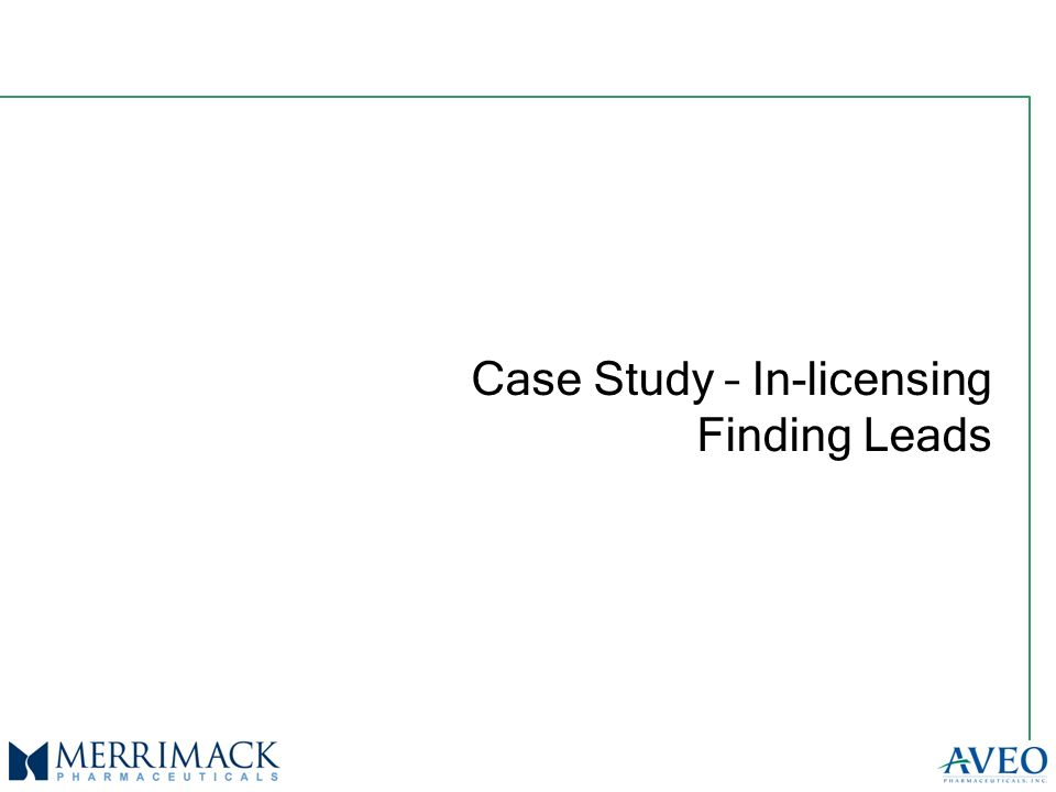 Case Study – In-licensing Finding Leads