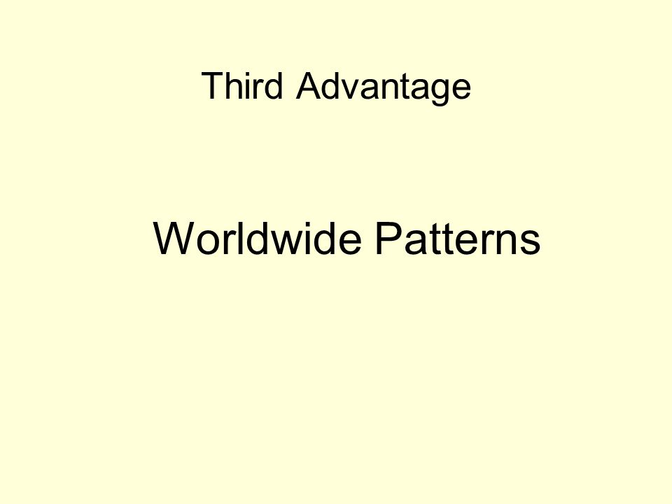 Third Advantage Worldwide Patterns