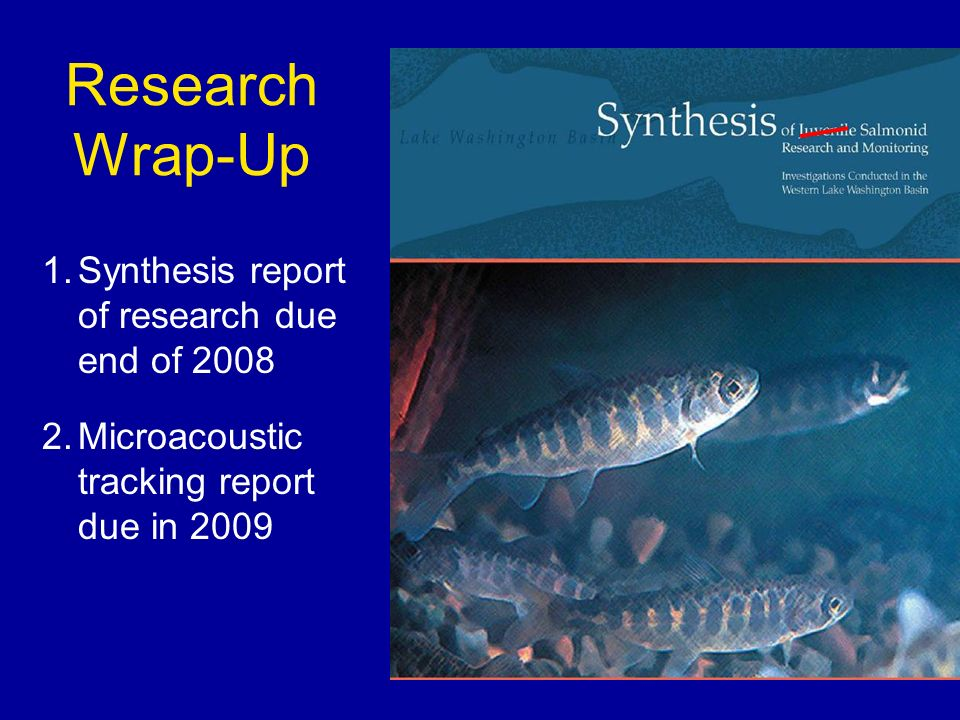 1.Synthesis report of research due end of Microacoustic tracking report due in 2009 Research Wrap-Up