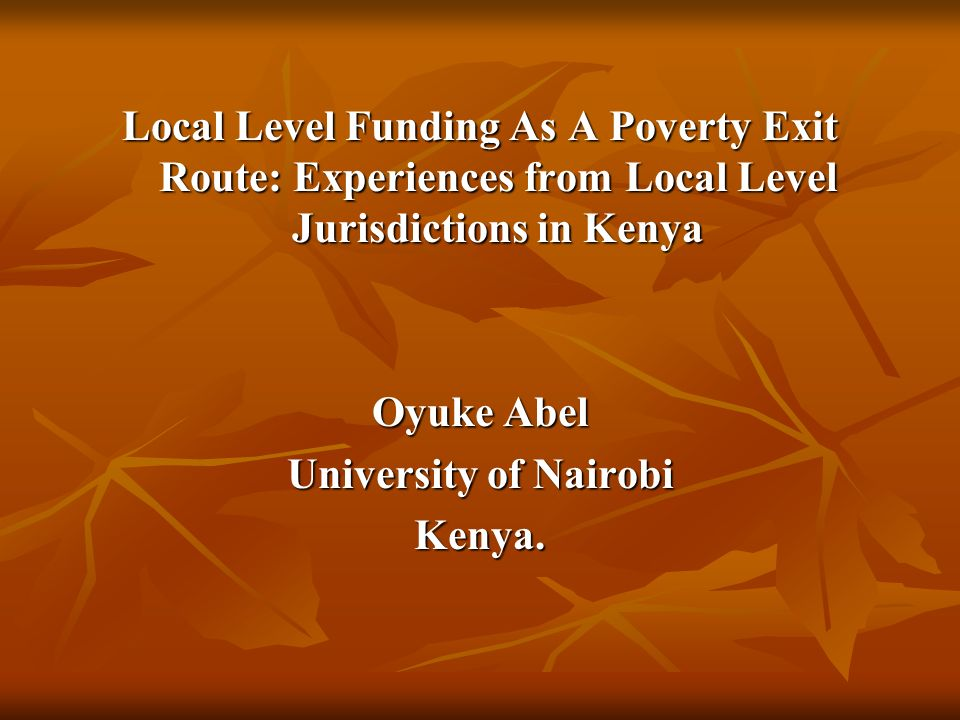 6.Constituency Development Fund Established in 2003 through the CDF Act in The Kenya Gazette Supplement No.