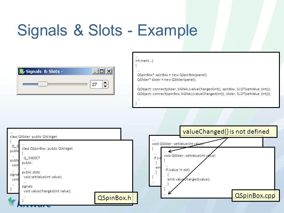 Signals & Slots - Example...