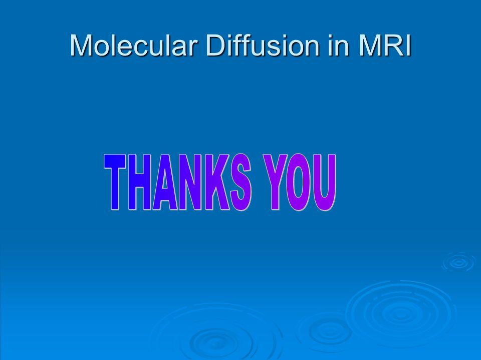 Molecular Diffusion in MRI