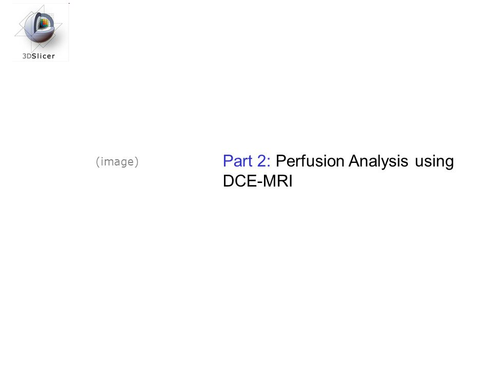 Part 2: Perfusion Analysis using DCE-MRI (image)
