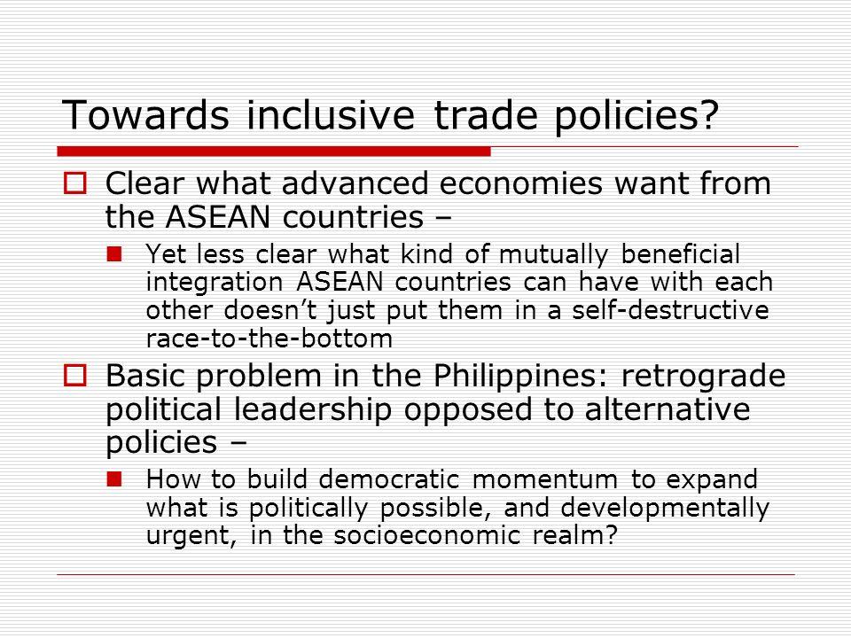 Towards inclusive trade policies.