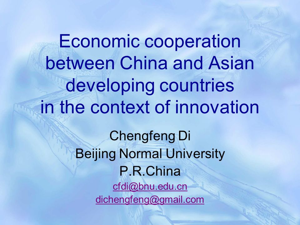 Benefits of China-ASEAN economic cooperation to ASEAN nations Enlarged Market Size Benefits from economies of scale and of agglomeration Breaking limitations of small, impoverished country in changes of technology and in promotion of national innovation capabilities Dynamic economies of scale by learning-by- doing and technological upgrading