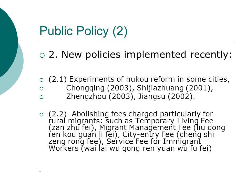Public Policy (2) 2.