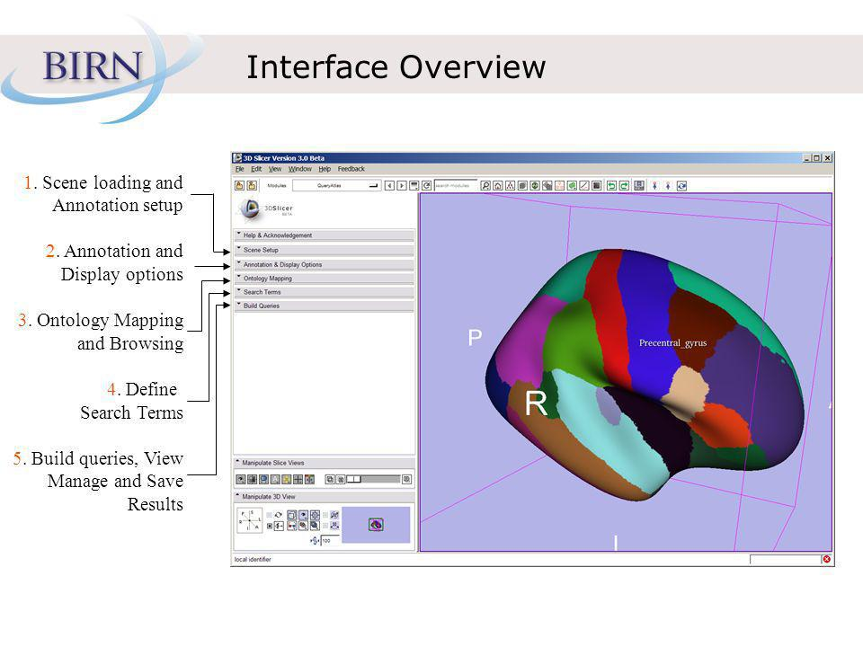 Interface Overview 1. Scene loading and Annotation setup 2.