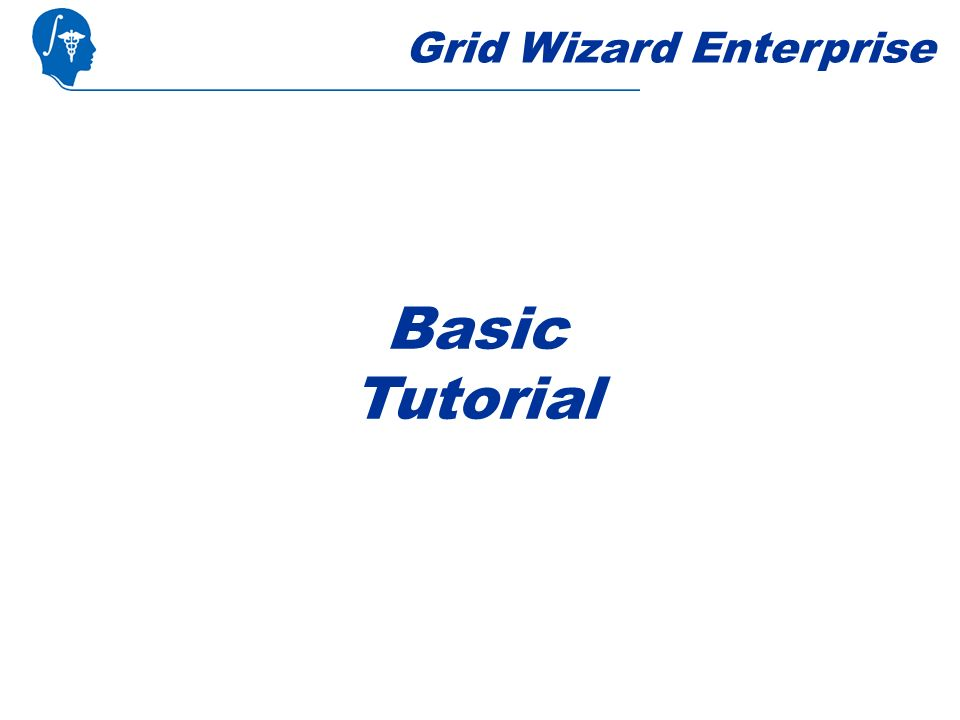 Grid Wizard Enterprise Basic Tutorial