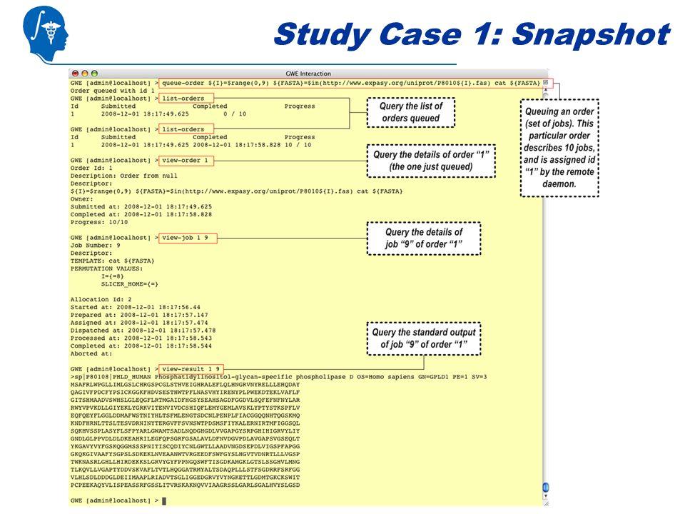 Study Case 1: Snapshot