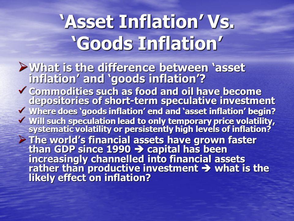 Asset Inflation Vs.