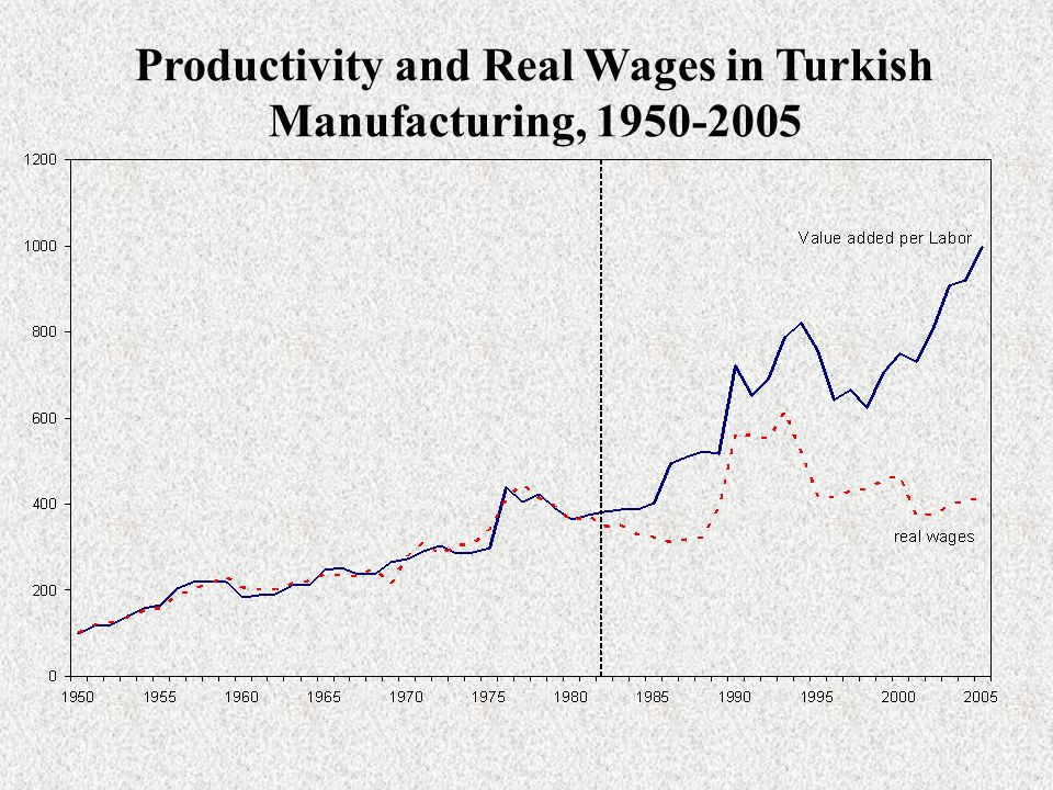 Productivity and Real Wages in Turkish Manufacturing,