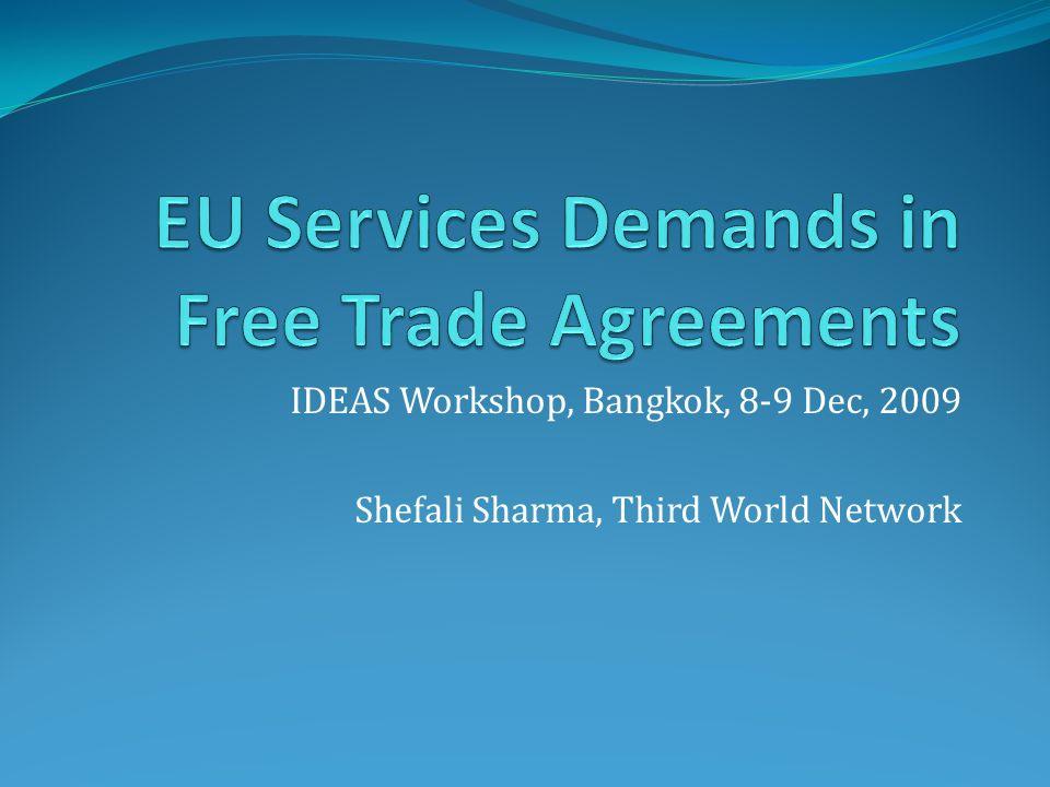 IDEAS Workshop, Bangkok, 8-9 Dec, 2009 Shefali Sharma, Third World Network