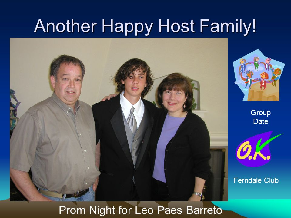 Another Happy Host Family! Prom Night for Leo Paes Barreto Group Date Ferndale Club