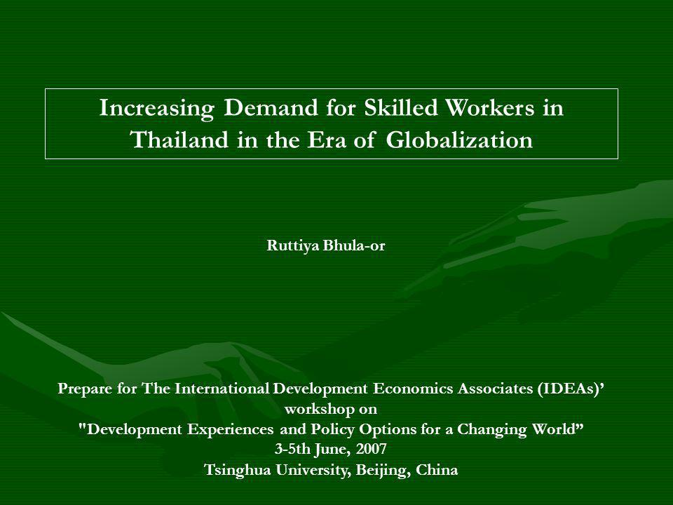Outline of the Presentation 1.Facts and Trends of Increasing Demand for Skilled Workers 2.Objectives of the Study 3.Fact Findings 4.Concluding Remarks