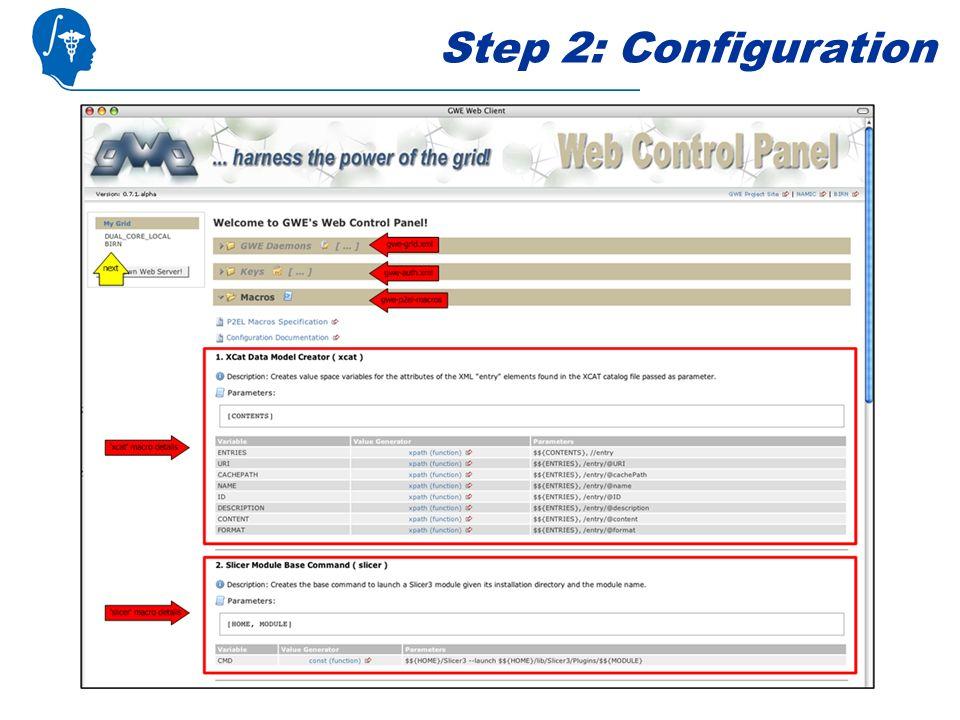 Step 2: Configuration