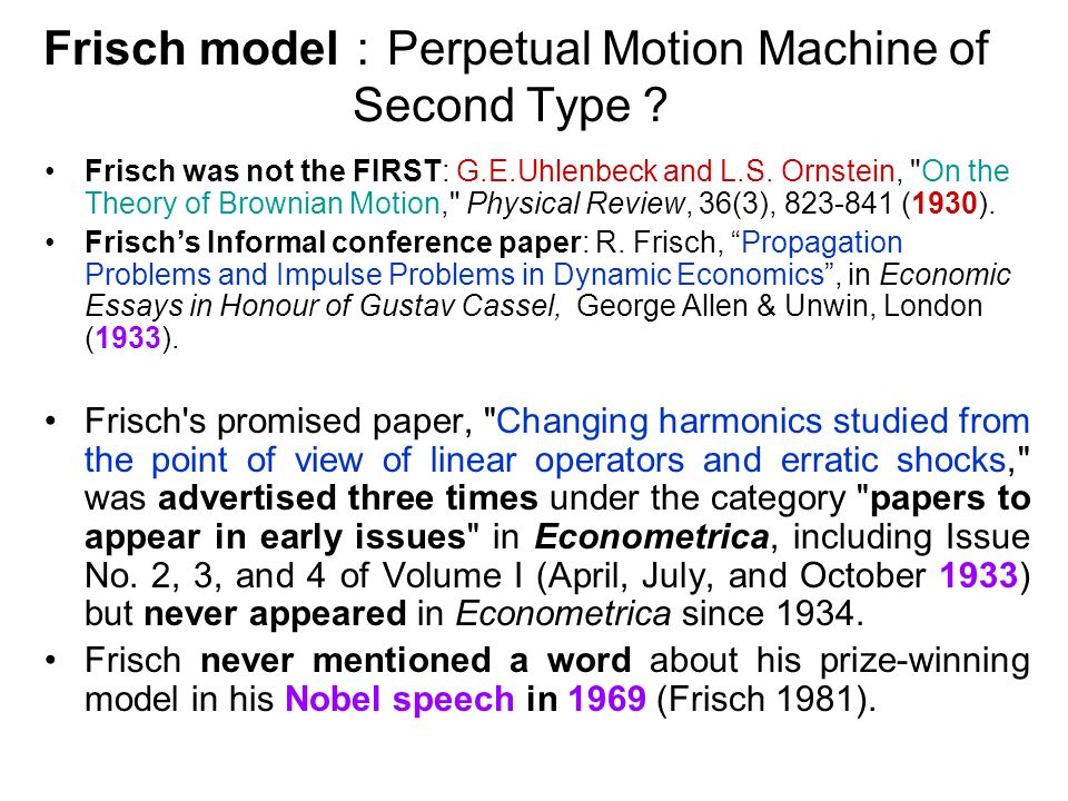 Frisch model Perpetual Motion Machine of Second Type Frisch was not the FIRST: G.E.Uhlenbeck and L.S.