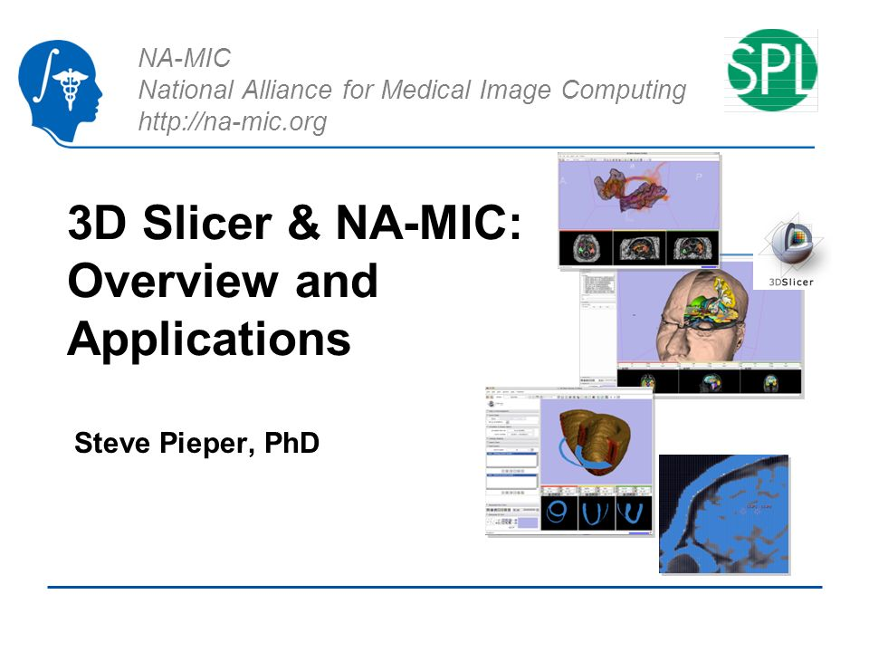 NA-MIC National Alliance for Medical Image Computing http://na-mic.org 3D Slicer & NA-MIC: Overview and Applications Steve Pieper, PhD