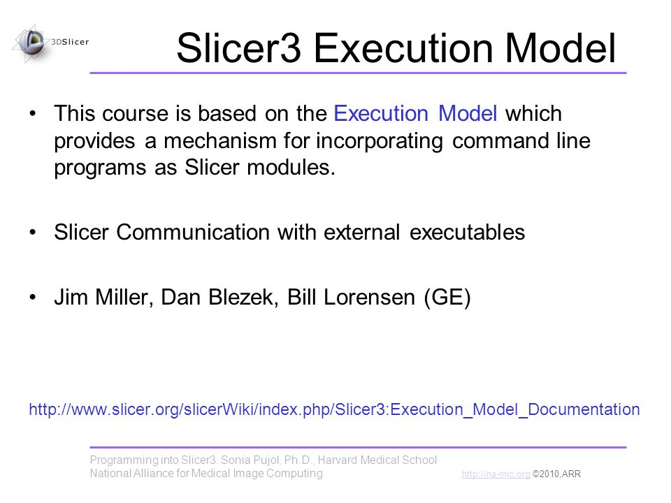 Programming into Slicer3.