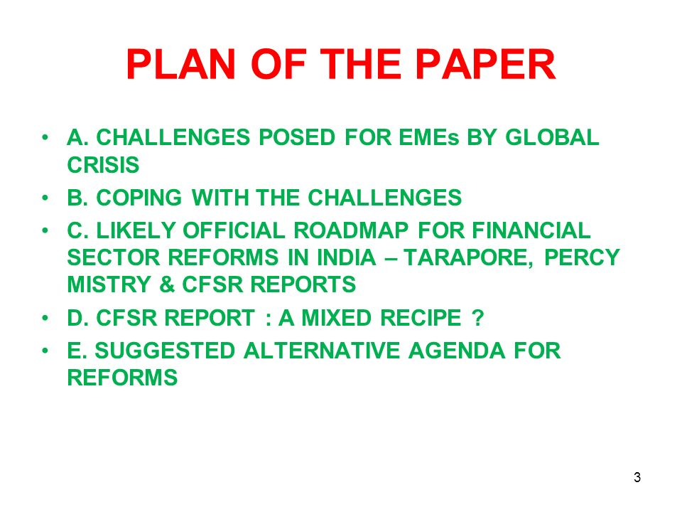 AN AGENDA FOR REFORMS 1.CREDIT DELIVERY TO MSMEs 2.