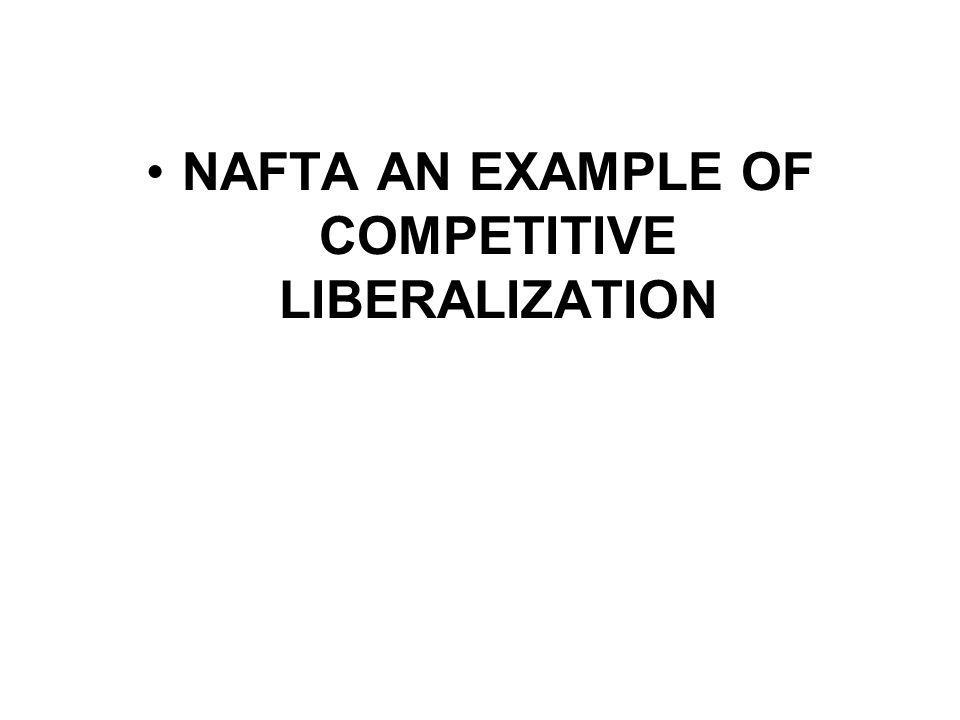 NAFTA AN EXAMPLE OF COMPETITIVE LIBERALIZATION