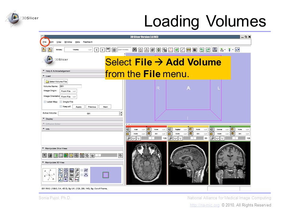 Select File Add Volume from the File menu.
