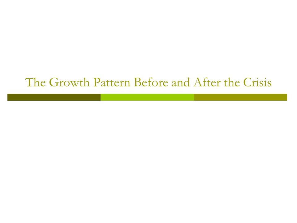The Growth Pattern Before and After the Crisis
