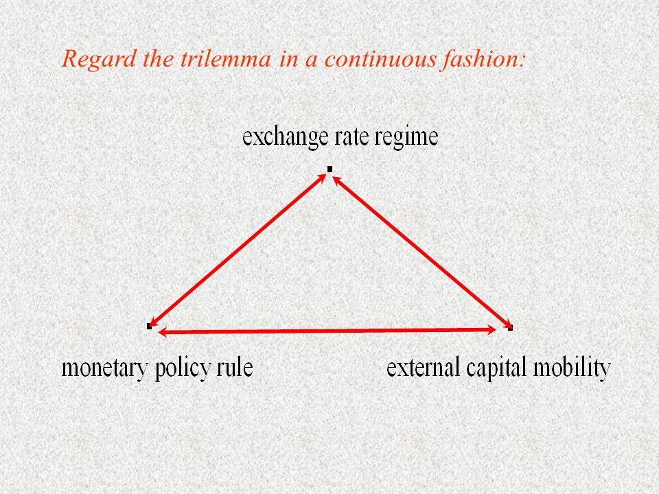 Regard the trilemma in a continuous fashion: