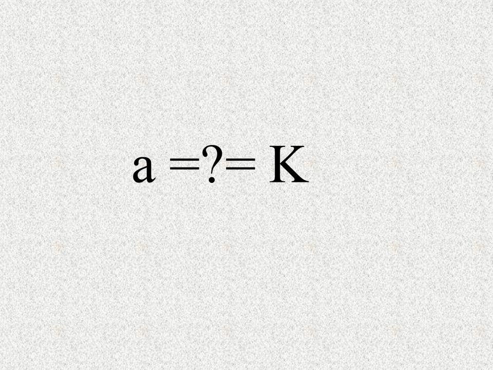 a =?= K