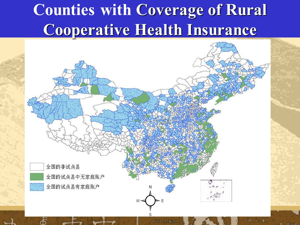 Coverage of Rural Cooperative Health Insurance Counties with Coverage of Rural Cooperative Health Insurance
