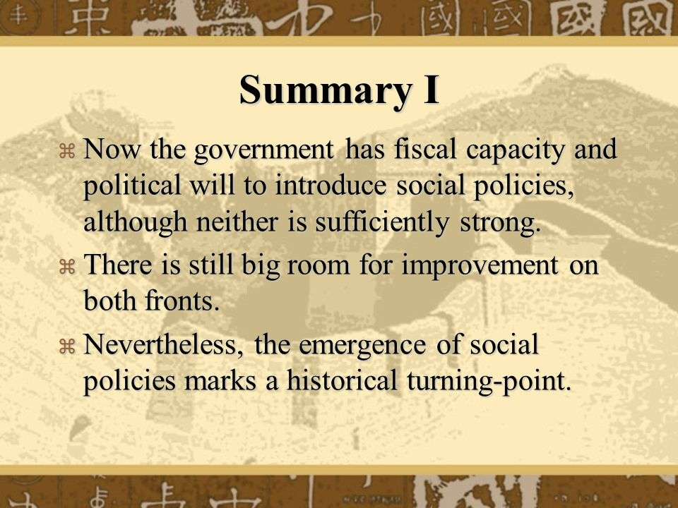 Summary II The case of China seems to bear testimony to Karl Pplanyis insight on the dynamics of modern society: The idea of a self-adjusting market implied a stark utopia.
