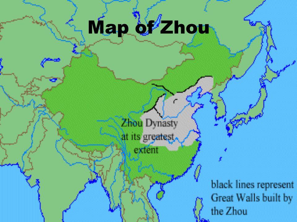 Map of Zhou