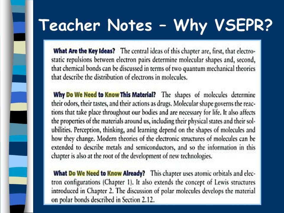 Teacher Notes – Why VSEPR?