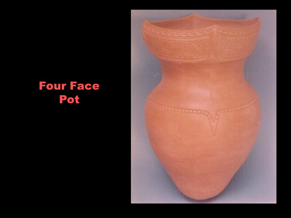 Four Face Pot