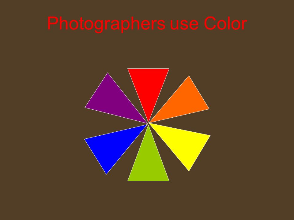 Photographers use Color