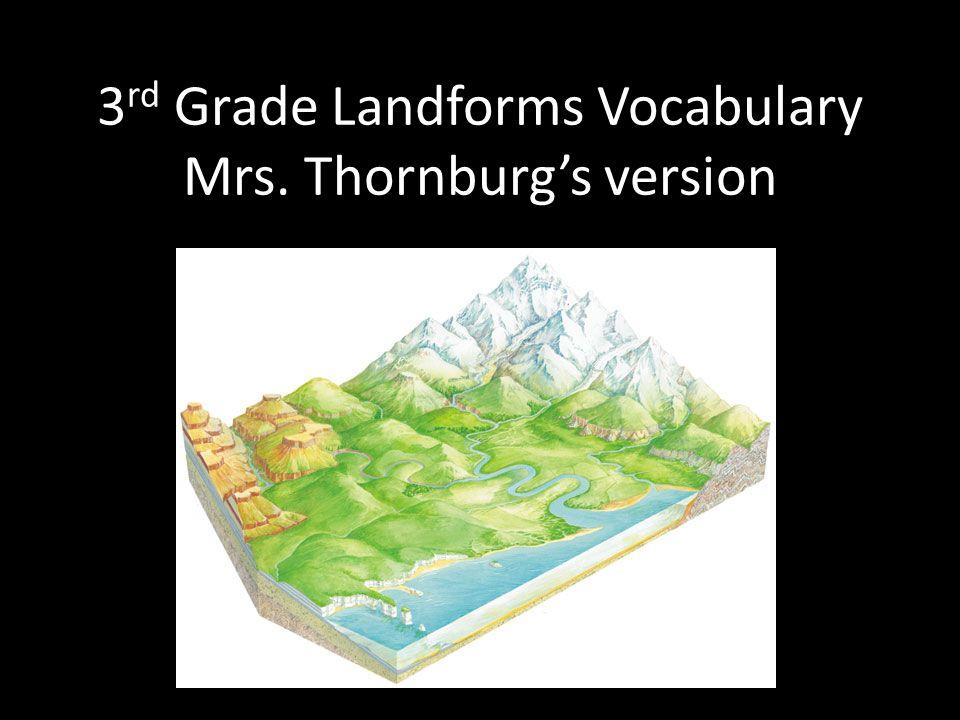 3 rd Grade Landforms Vocabulary Mrs. Thornburgs version