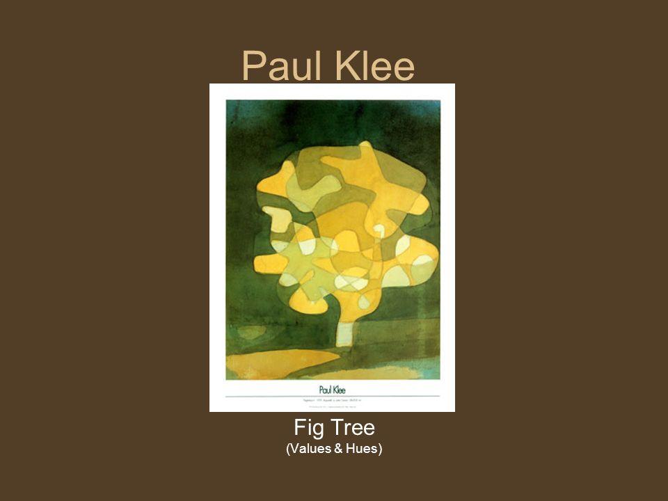 Paul Klee Fig Tree (Values & Hues)