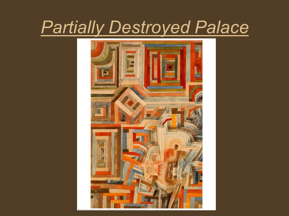 Partially Destroyed Palace