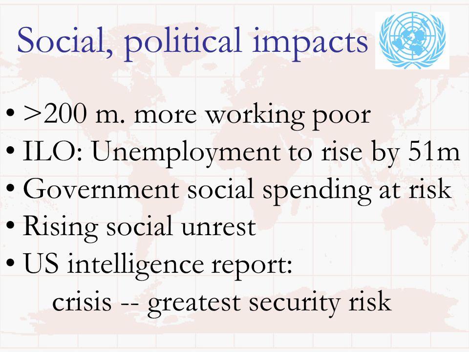 Social, political impacts >200 m.