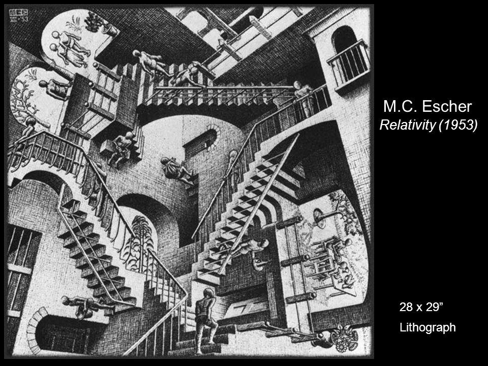 M.C. Escher Relativity (1953) 28 x 29 Lithograph