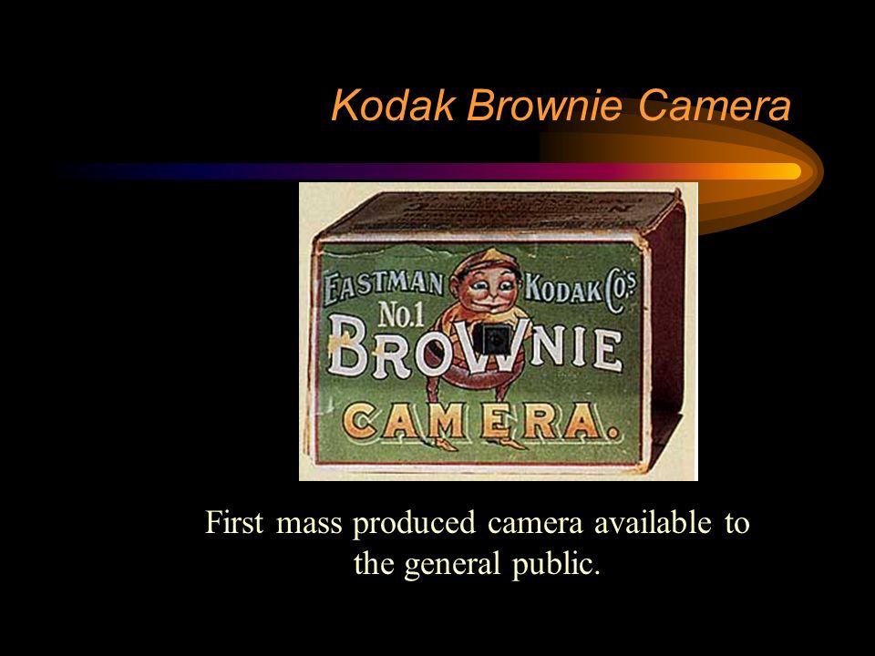 Innovations Tools & Techniques –Kodak camera –Leica 35 mm camera –Leica and others 35 mm electronic camera –Ektachrome color slide film –Kodachrome color slide film –Kodacolor color print film
